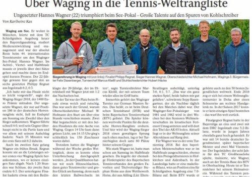 Aus der Presse: Über Waging in die Tennis-Weltrangliste